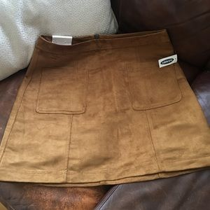 NWT Old Navy Camel Brown Suede Skirt